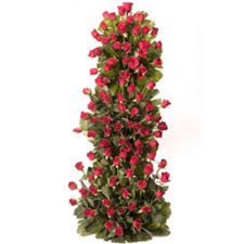 100 red Roses on a 4 ft stand