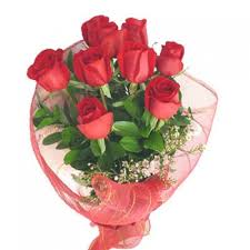 8 red roses bouquet THIS PRODUCT AVAILABLE IN MAJOR CITIES ONLY