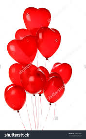 Bouquet of 12 air filled heart balloons