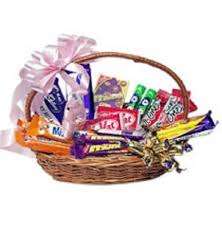 Cadburys mixed chocolates in a basket