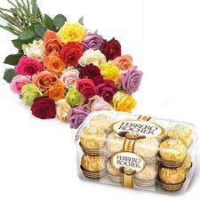 20 mix roses 16 ferrero rocher box