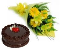 1 kg cake with flowers