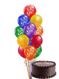 1/2 kg Cake 30 gas balloons for jalandhar