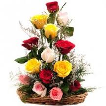 10 roses basket THIS PRODUCT AVAILABLE IN MAJOR CITIES ONLY
