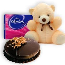 1/2 kg cake teddy and chocolates